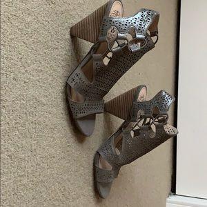 Vince Camuto silver cutout sandals